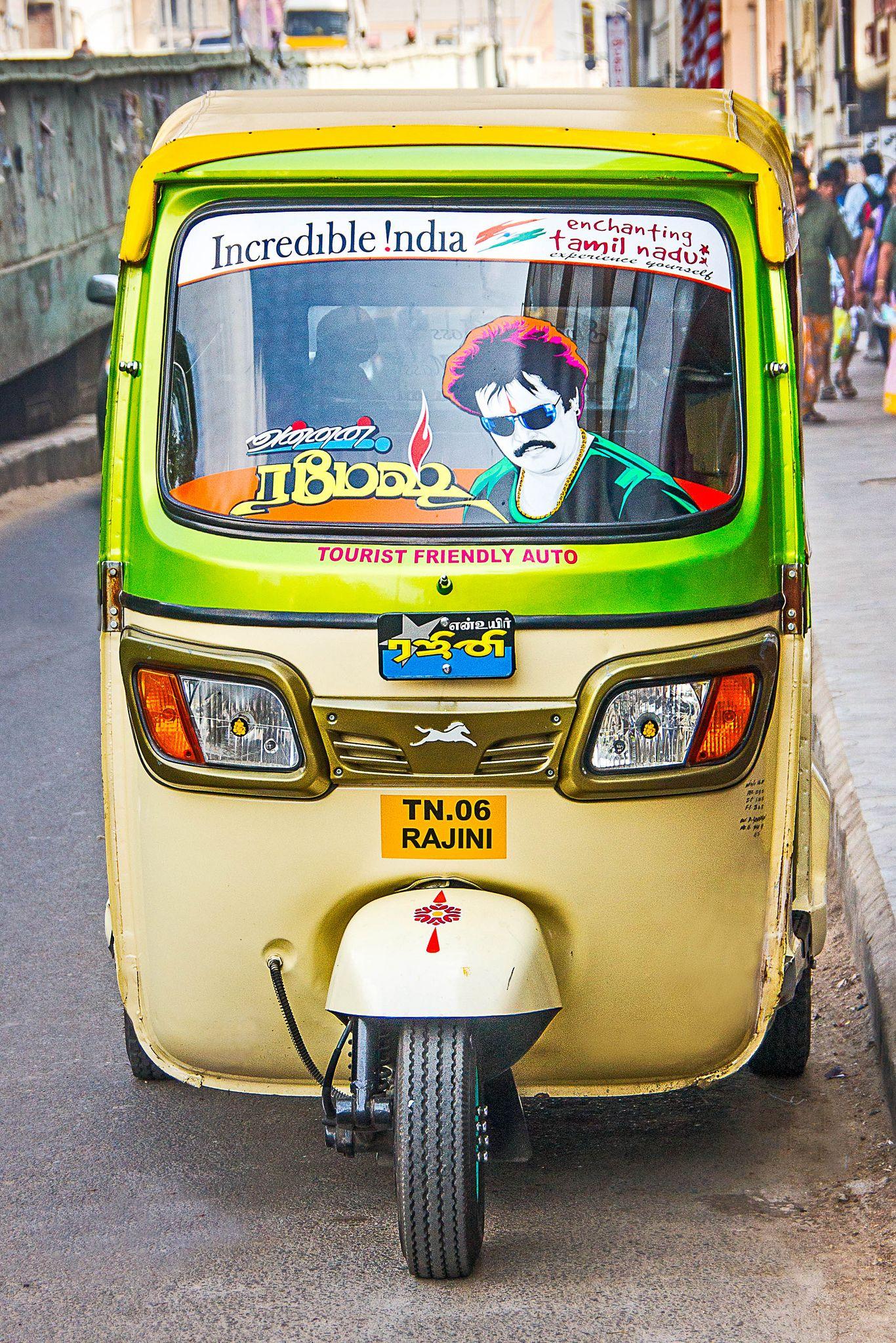 The Rajinikanth Auto Rickshaw The incredibles, Amazing
