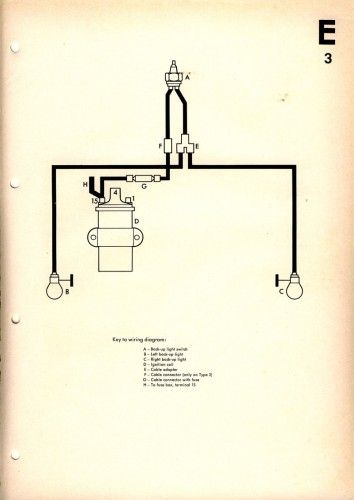 Reverse Light Wiring Diagram | Design I Like | Vw beetles