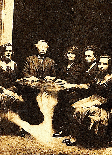 Seance with Arthur Conan Doyle. Doyle was a Spiritualist. In particular he favored Christian Spiritualism and encouraged the Spiritualists' National Union to accept an eighth precept – that of following the teachings and example of Jesus of Nazareth. He also was a member of the renowned paranormal organisation The Ghost Club.[33] Its focus, then and now, is on the scientific study of alleged paranormal activities in order to prove (or refute) the existence of paranormal phenomena.