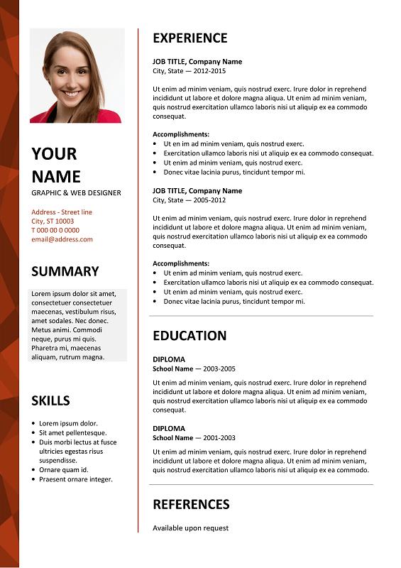 Dalston Free Resume Template Microsoft Word Red Layout Free Resume Template Word Free Resume Template Download Resume Template Word