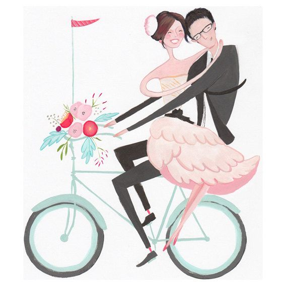 Custom Wedding Portrait by Jolly Edition - would make such a great gift!