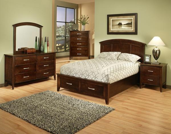 dark wood bedroom furnature Dove Creek Wood Chocolate Bedroom
