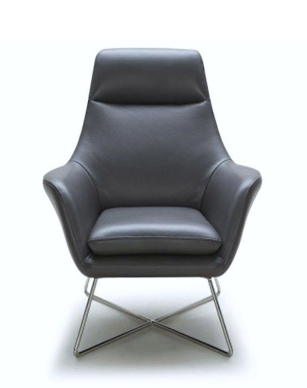 a831 modern grey leather lounge chair lounge u0026 chaise occasional