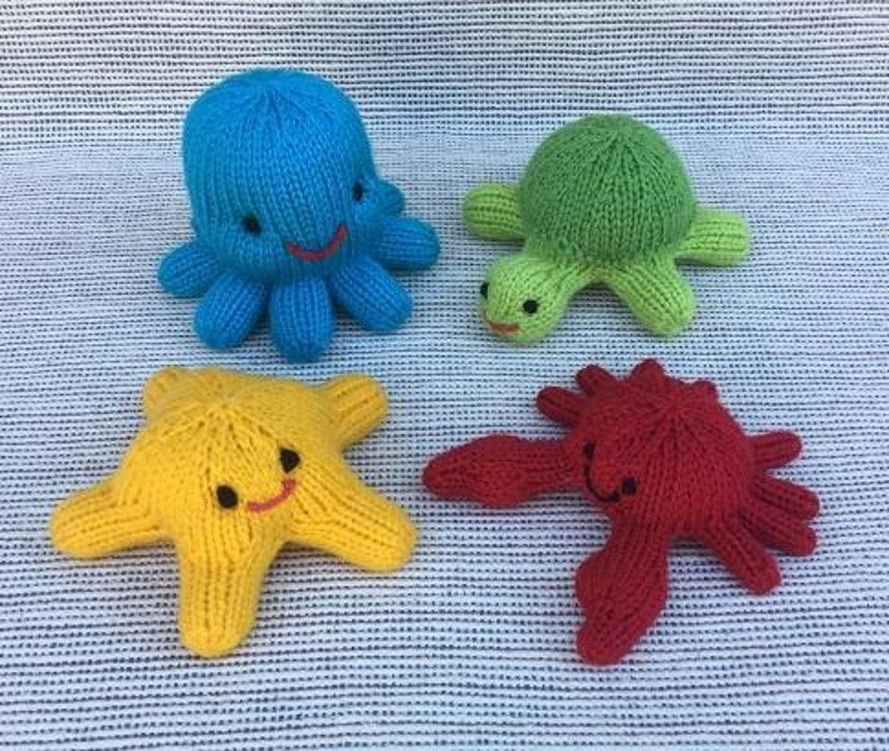 These Little Sea Creatures are knit in-the-round, using Magic Loop ...