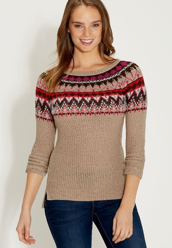 Maurices Woman plus size pullover sweater in fair isle pattern XXL ...