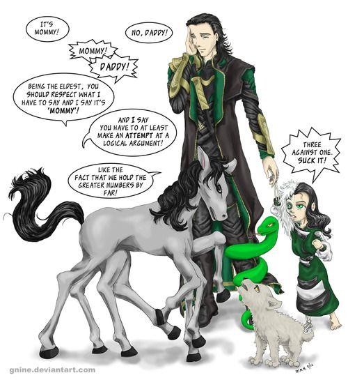loki and his children | When Fangirls Attack | Pinterest ... Lokis Children Norse Mythology