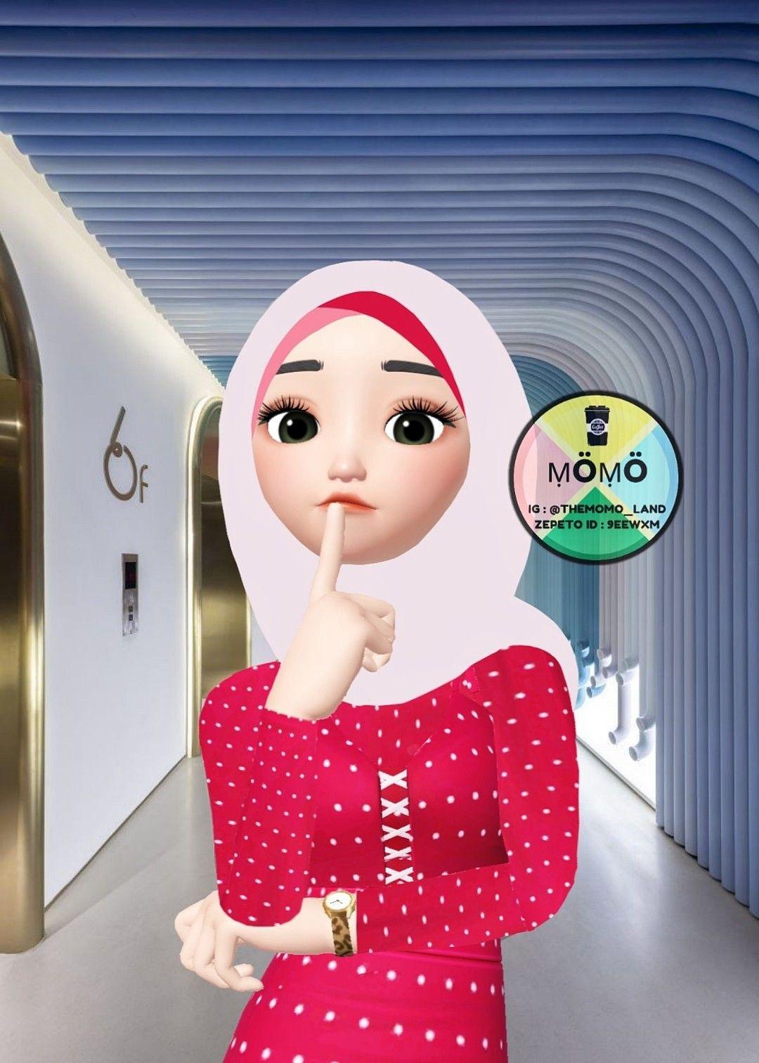 Pin oleh Izza Dhia di Muslimah Zepeto Kartun, Gadis