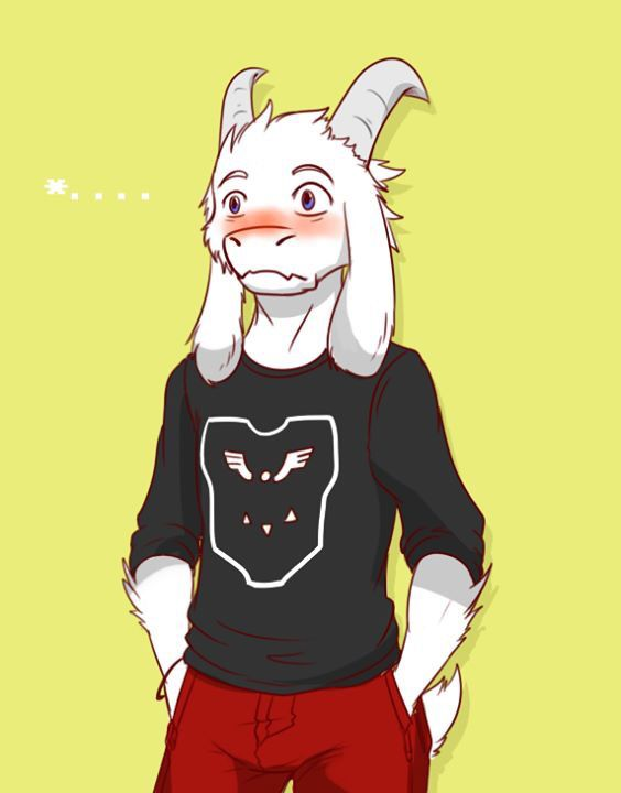 Asriel 1 Frisk Choose Flirt Undertale Furry Art