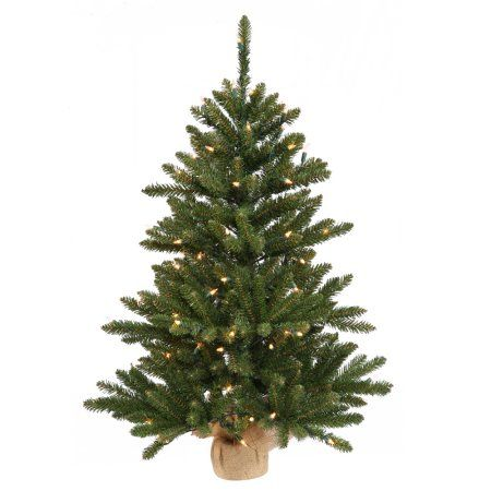 Vickerman 24 inch Anoka Pine Artificial Christmas Tree with 35 Clear
