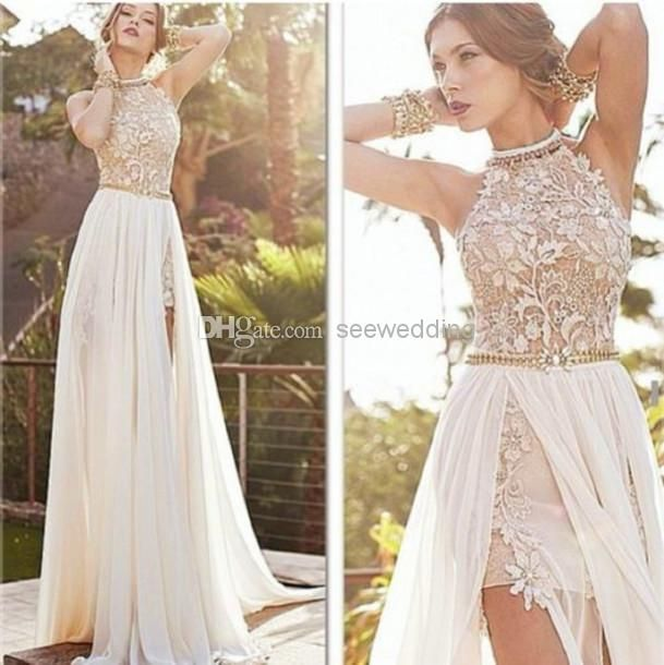 Lace beach wedding dresses tumblr long