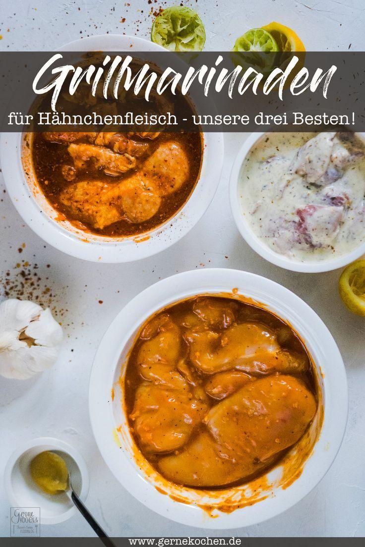Rezept: Unsere drei besten Grillmarinaden für Hähnchen - Gernekochen.de #meatmarinade
