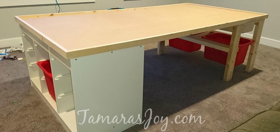 DIY Lego Table, Ikea Hack! tamarasjoy.com | Lego | Pinterest | Lego ...