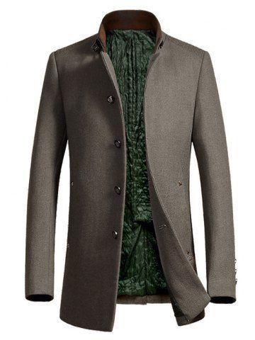 men's wool coat stand collar