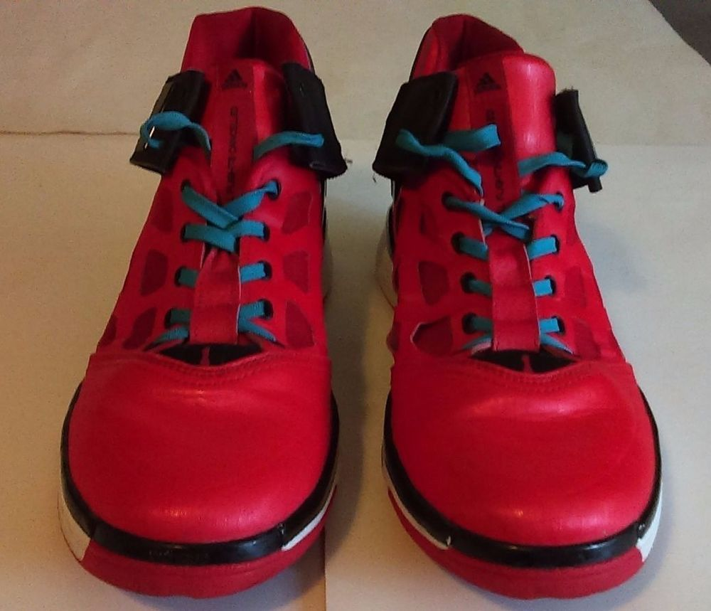 8670aba0481b Adidas Adizero Rose 2 Windy City Size 10 Red Black-Intense Blue Pre Owned   adidas  BasketballShoes