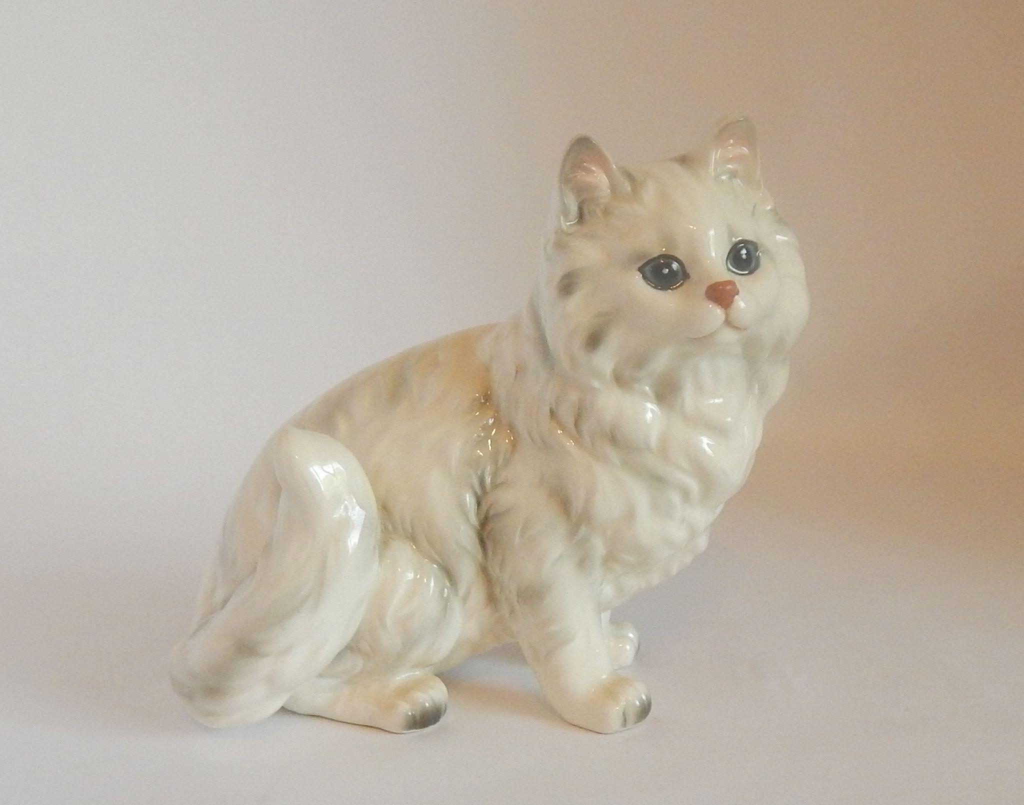 Andrea by Sadek Porcelain Persian Cat Figurine Cats