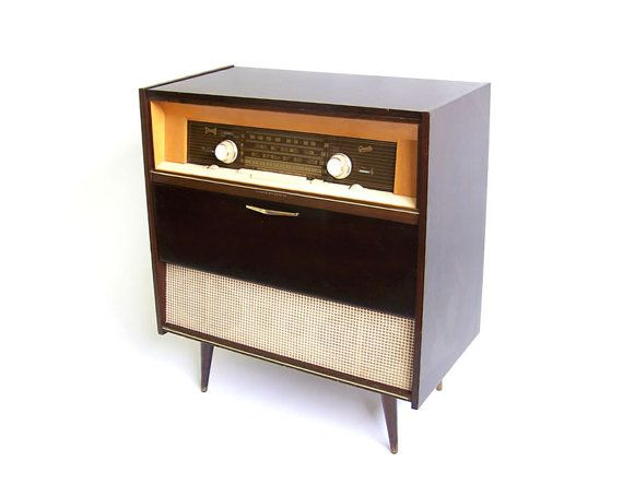 Vintage Stereo Cabinet Radio Record Player Retro by stonesoupology ...