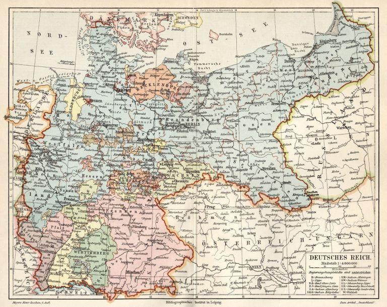 Bundesstaaten Landkarte Alte Karten