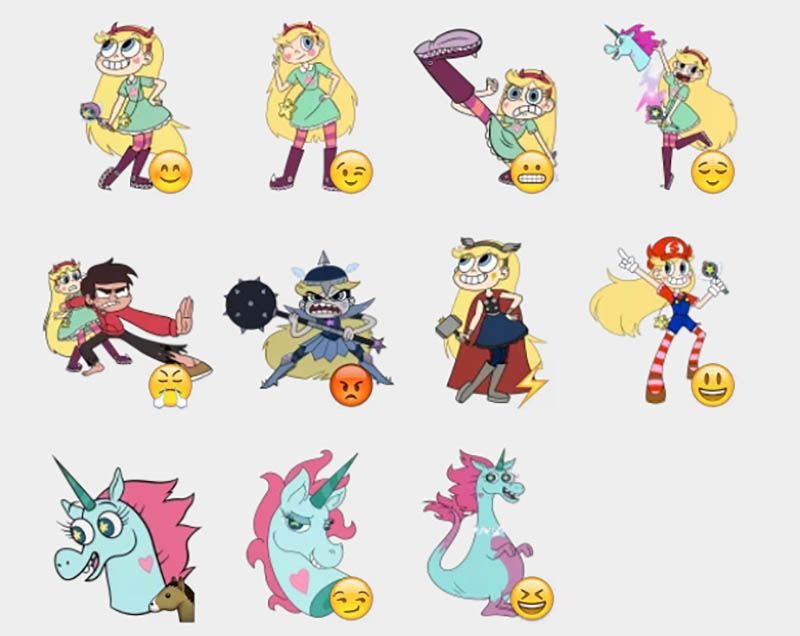 star vs the forces of evil stickers set telegram stickers