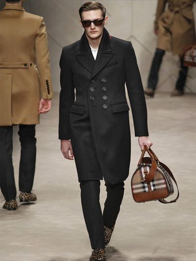 4aa780f0d5a Burberry Prorsum Cashmere Neoprene Cloth Military Coat in Black for Men |  Lyst