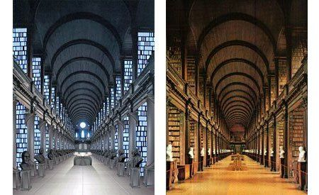 Left Is The Library In Star Wars Right Is The Library At Trinity