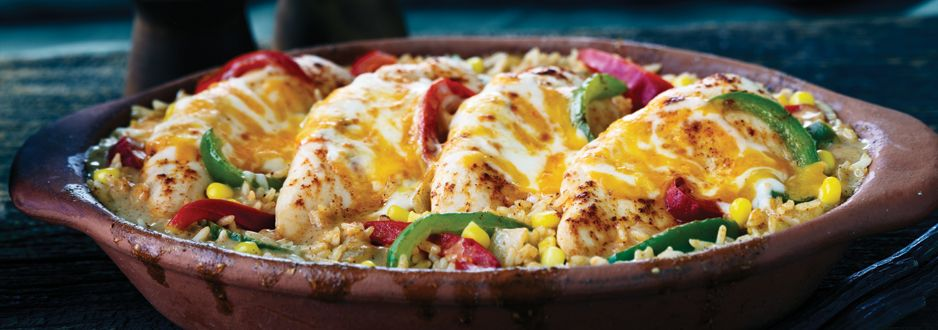 Tex mex chicken and rice bake recipe cook with campbells