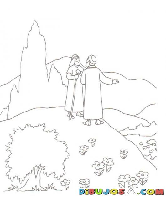 Colorear A Lot Y Abraham Colorear Biblicos Dibujo Para Colorear A Lot Y Abraham Abraham And Lot Bible Coloring Pages Sunday School Coloring Pages