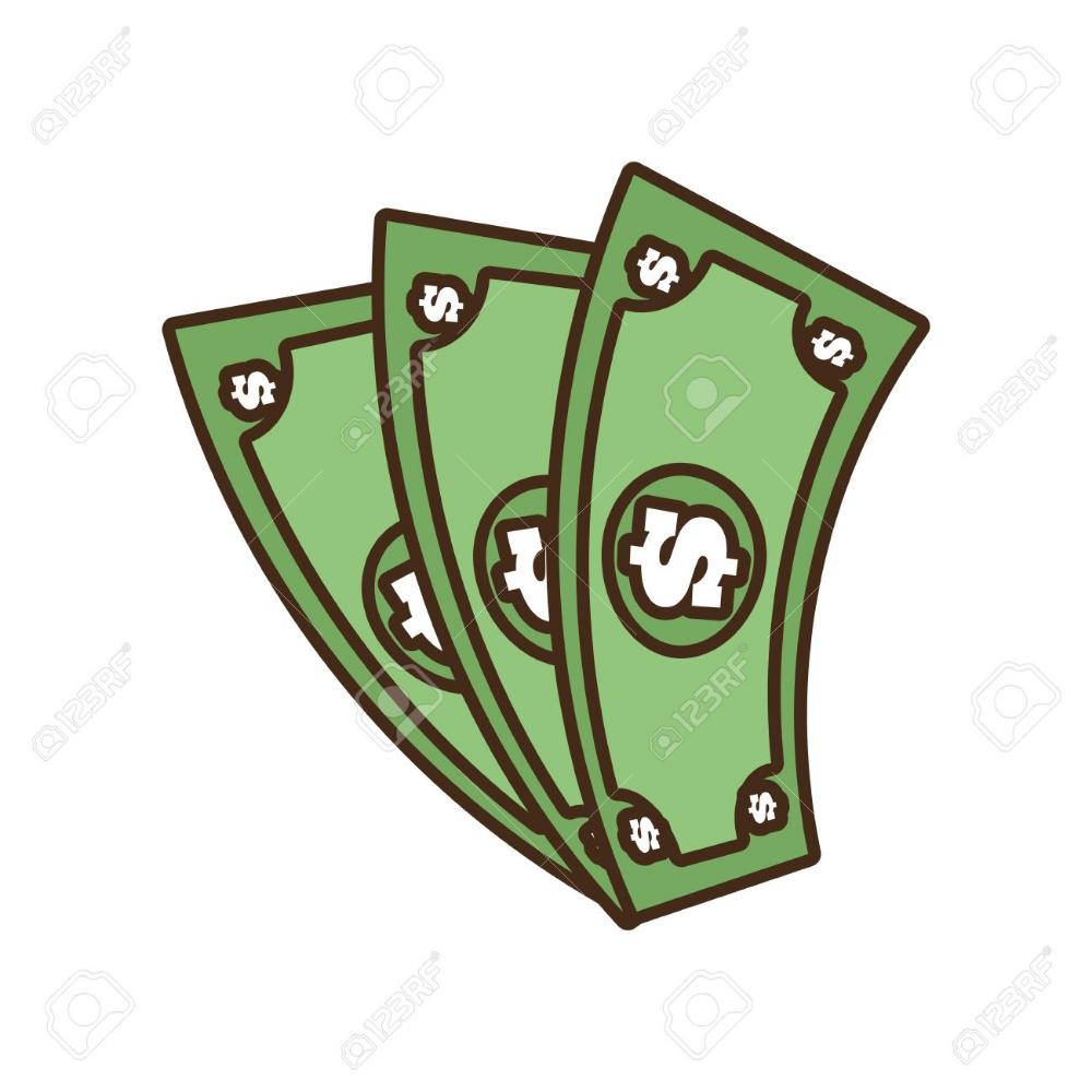 De Dibujos Animados Billetes De Dinero En Dolares En Efectivo Ilustracion Vectorial Eps 10 Dibujos Pegatinas Bonitas Dibujar Ropa Anime