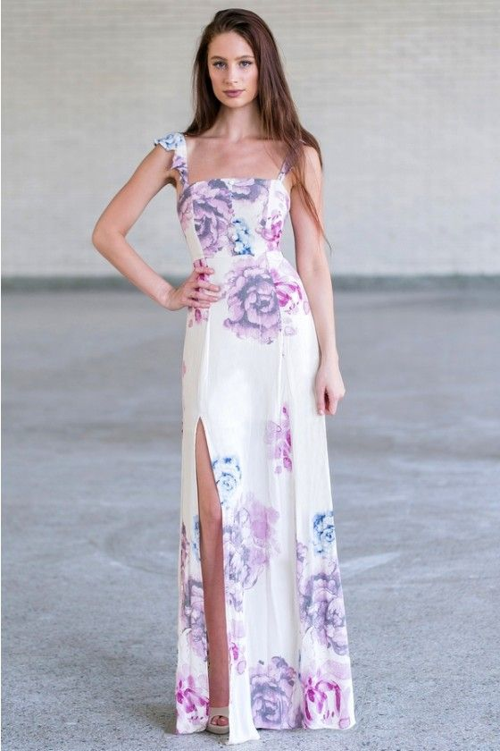 3bbfbee0b15 Flowering Orchards Cream Print Maxi Dress