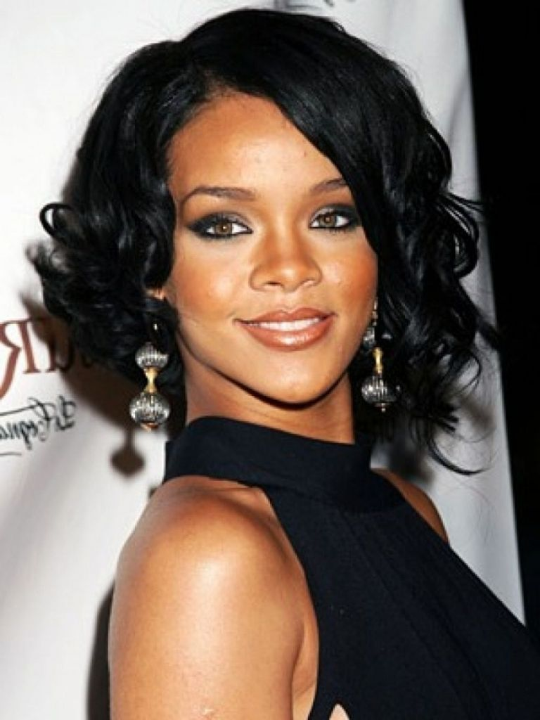 Rihanna medium haircut medium hairstyles for black women hairstyles