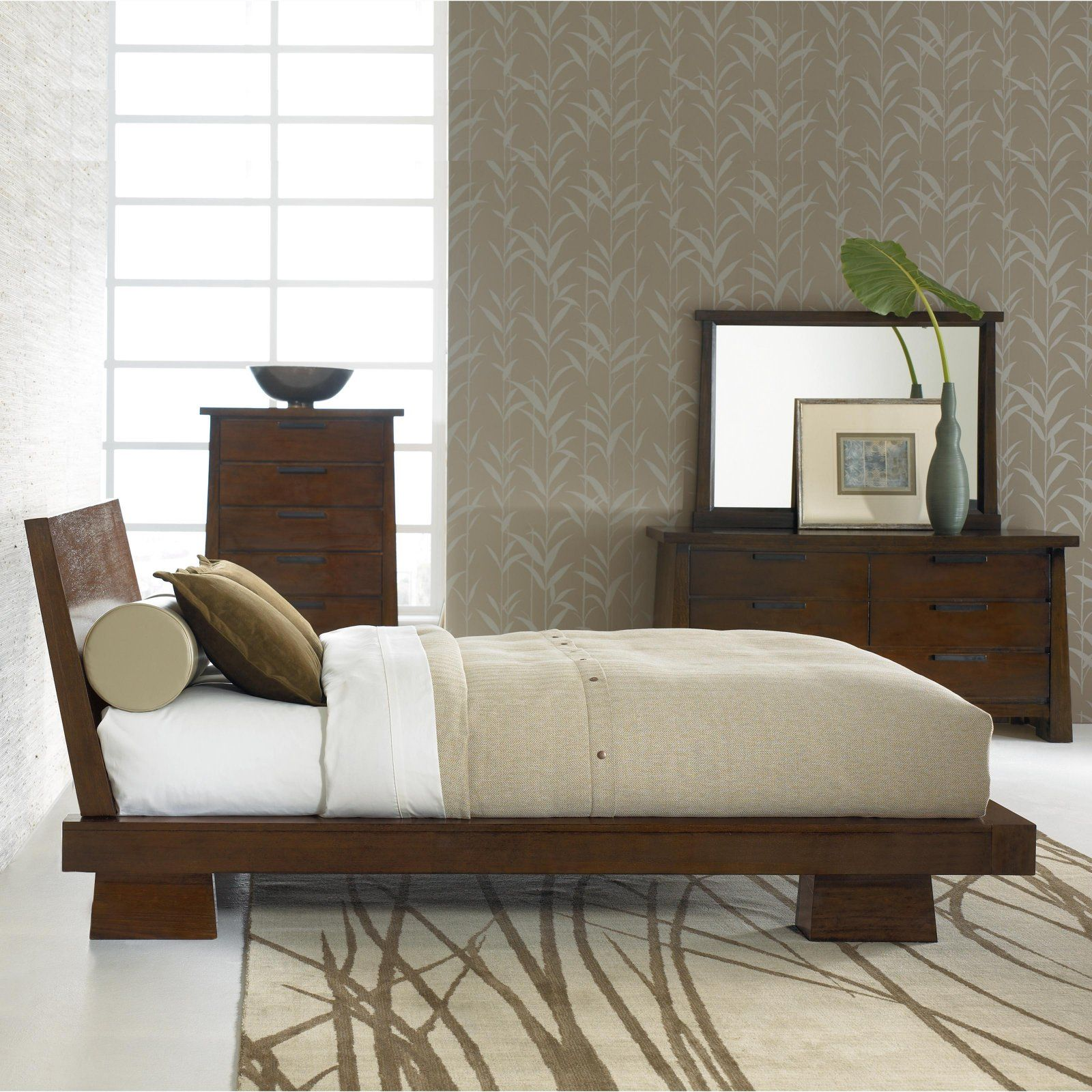 The modern hilda platform bed japanese style platform - Modern japanese bedroom furniture ...