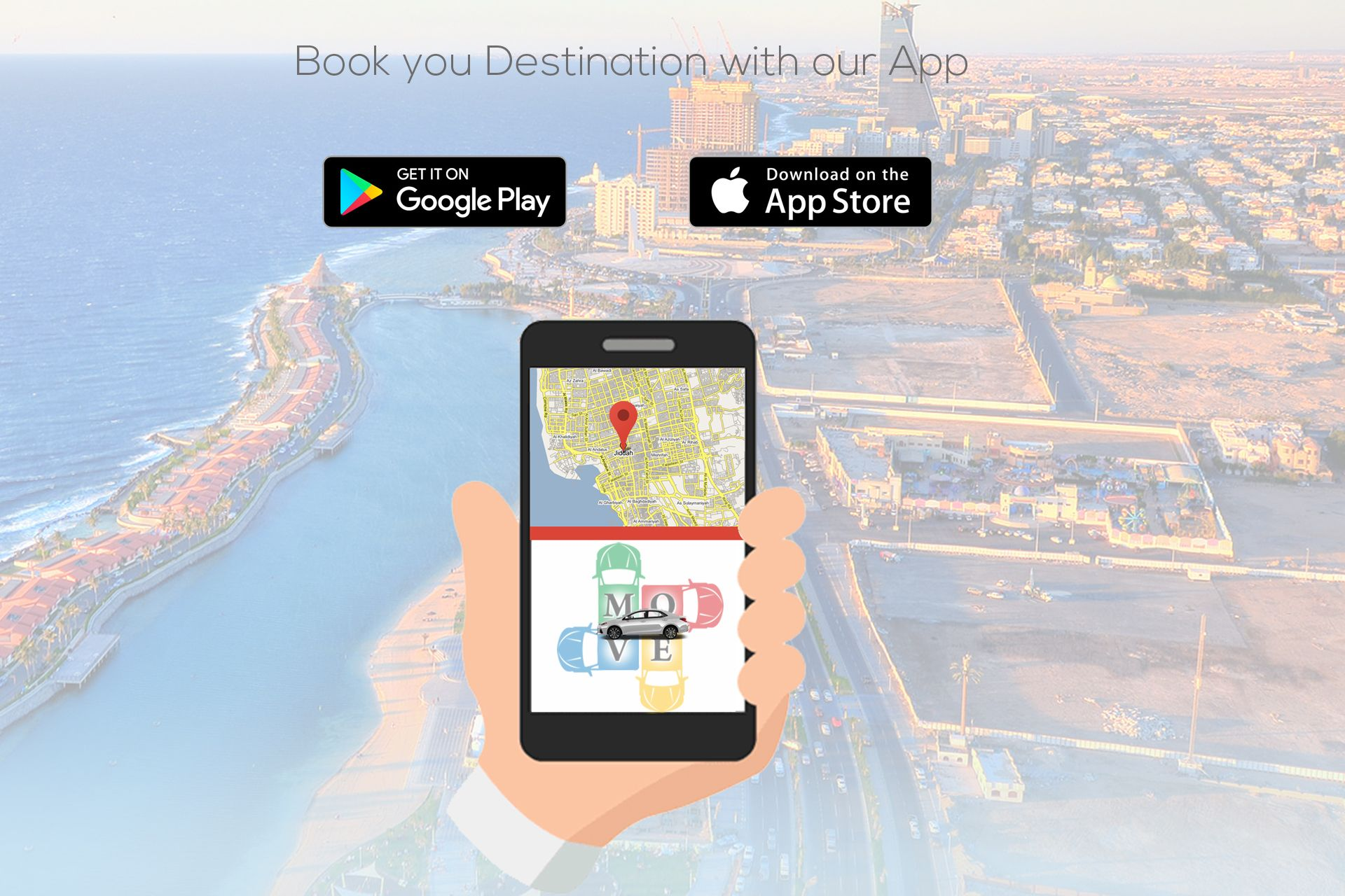 Book your Destination with our App Move Online is Online