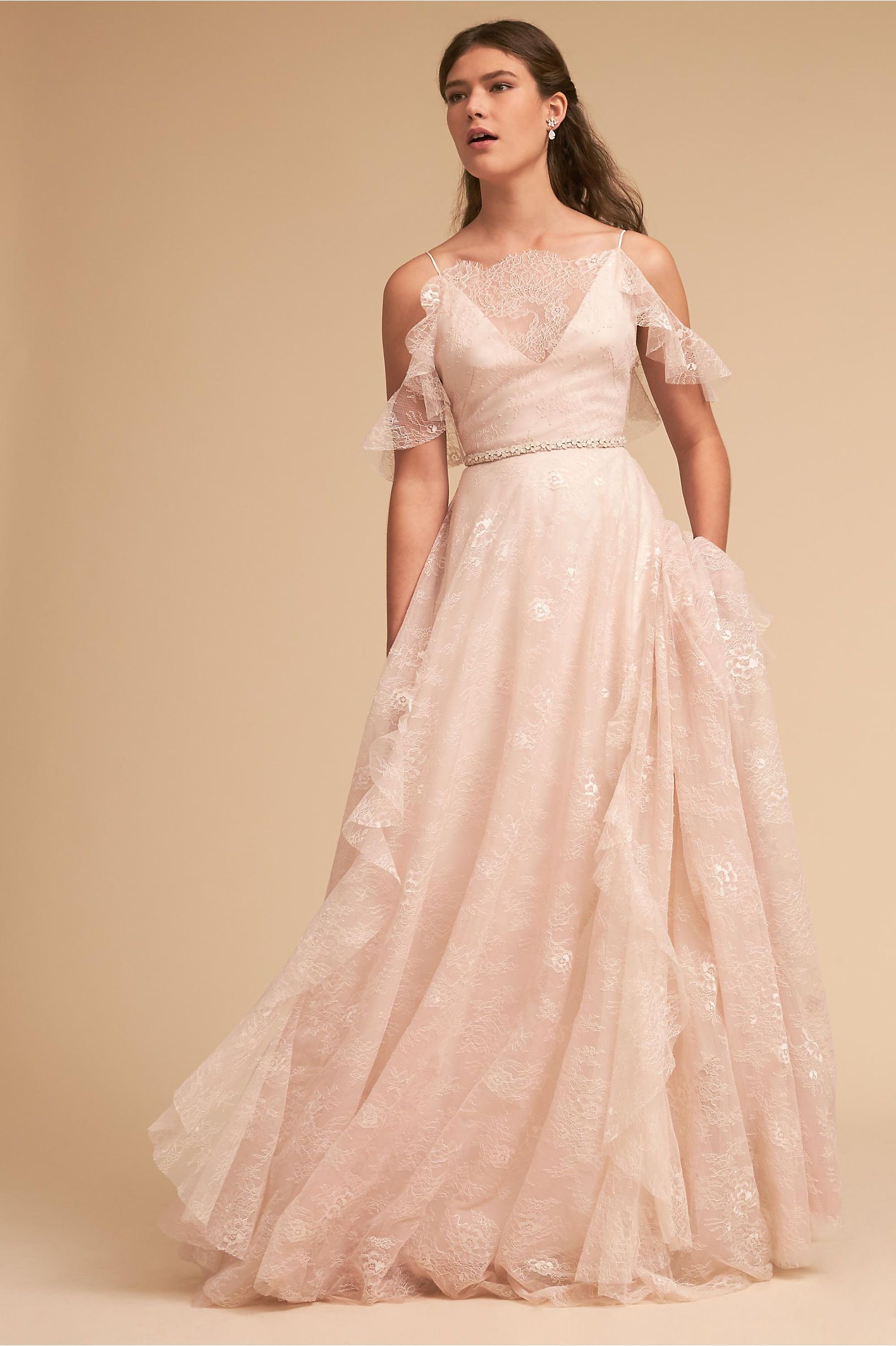 Bhldnus theia bridal ava gown in rose in products pinterest