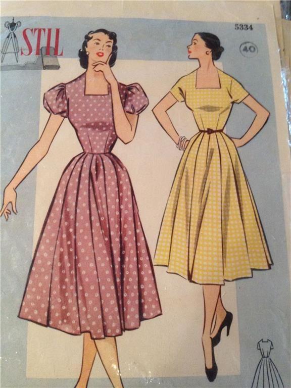 50 tals klänning mönster