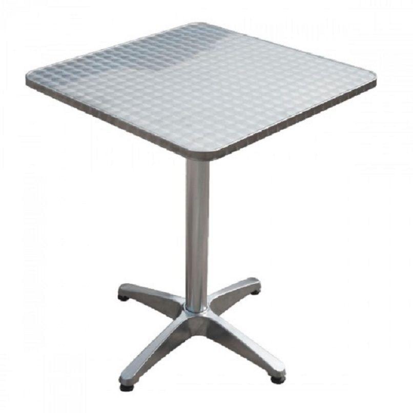 Klapptisch Edelstahl Platte Klappbar Bistro Tisch Gartenmobel