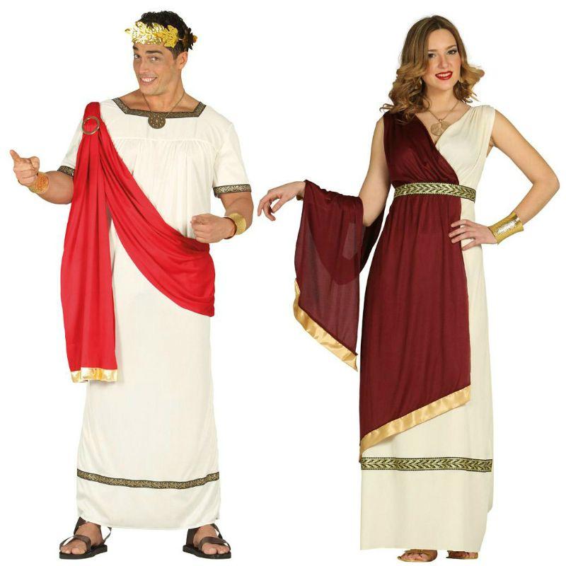 Pareja disfraces de romanos parejas disfraces carnaval for Disfraces parejas adultos