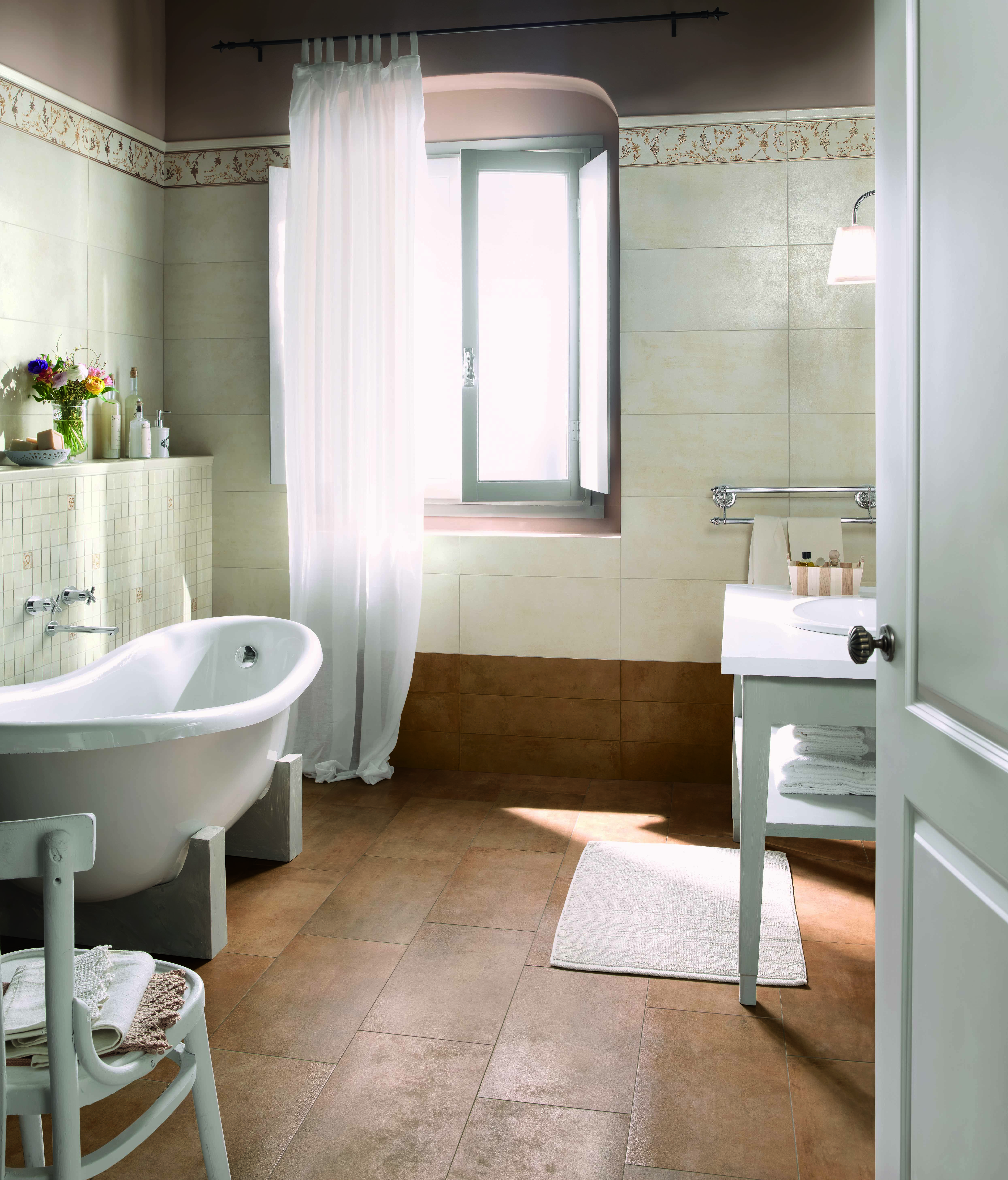 Give your bathroom an artisanal look with terracotta inspired tile give your bathroom an artisanal look with terracotta inspired tile by the convivium collection by dailygadgetfo Gallery