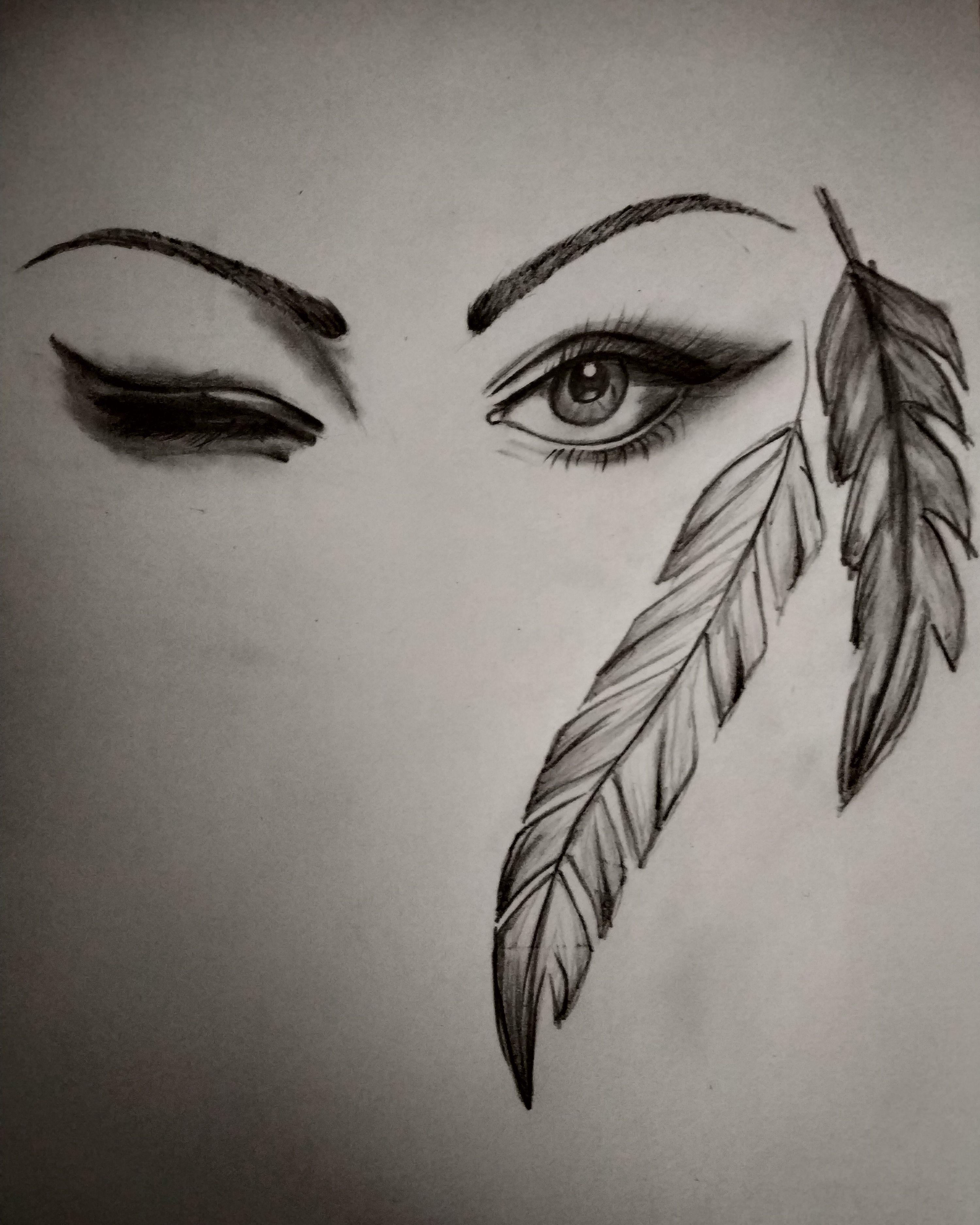 Winking eyes pencil sketch eyes drawing sew elegance diy