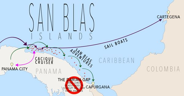 San Blas Islands Map San Blas Islands: A Guide To Paradise | South & Central America