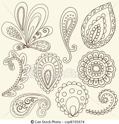 Modern Paisley Pattern... pretty for a tattoo?