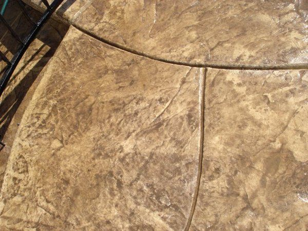 Stamped Concrete Expansion Joints : Sacramento stamped concrete earth tones curved