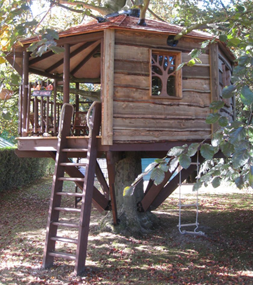 70 Ideas Simple DIY Treehouse For Kids Play That You
