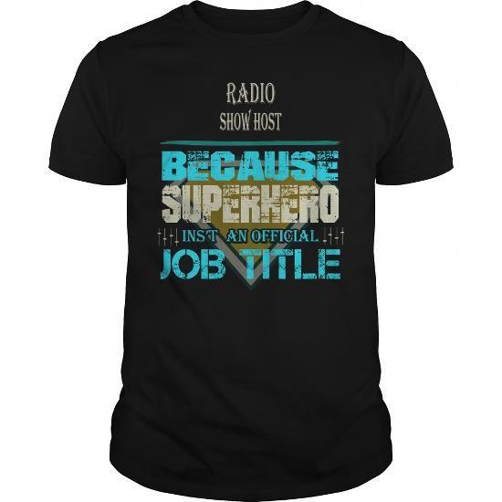 Awesome Tee RADIO SHOW HOST T-Shirts