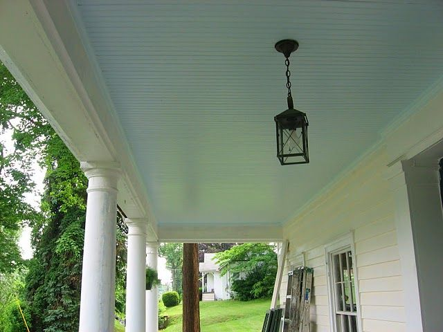 That Old House If It Haint Blue Don T Paint It Blue Porch Ceiling Haint Blue Porch Ceiling