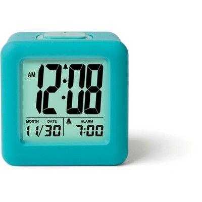 Rubber Cube Calendar Smart Light Table, Timelink Led Alarm Clock With Multi Color Display