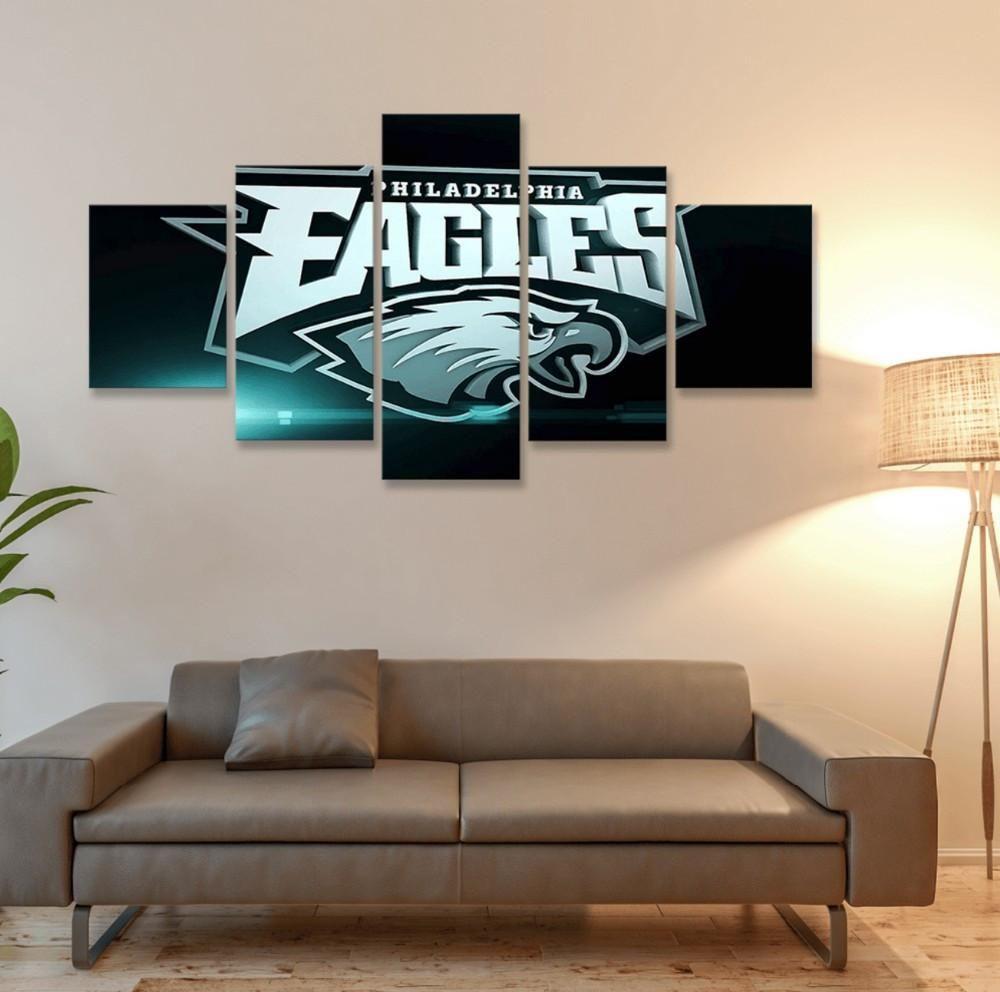 5 Panel Dallas Cowboys Canvas Prints Painting Wall Art Nfl: Philadelphia Eagles Canvas Prints Wall Art