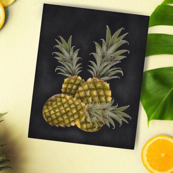 Pineapple Art Pineapple Chalkboard Art Chalkboard Kitchen