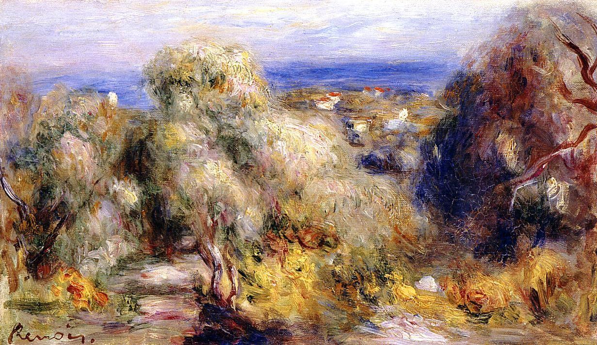 Pierre Auguste Renoir Paintings Dance at Bougival Print On Canvas Framed Art