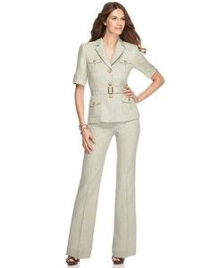 Jcpenney Women Pant Suits Tahari By Asl Suit Short Sleeve