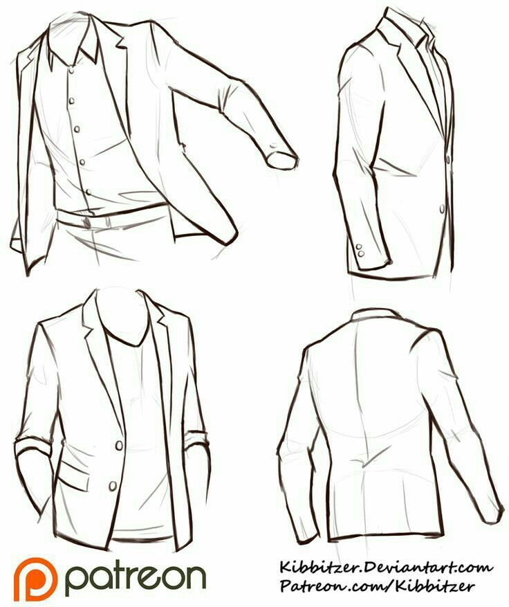 How To Draw A Suit Jacket How To Draw Manga Anime Drawing Clothes Drawing Tips Drawing Reference