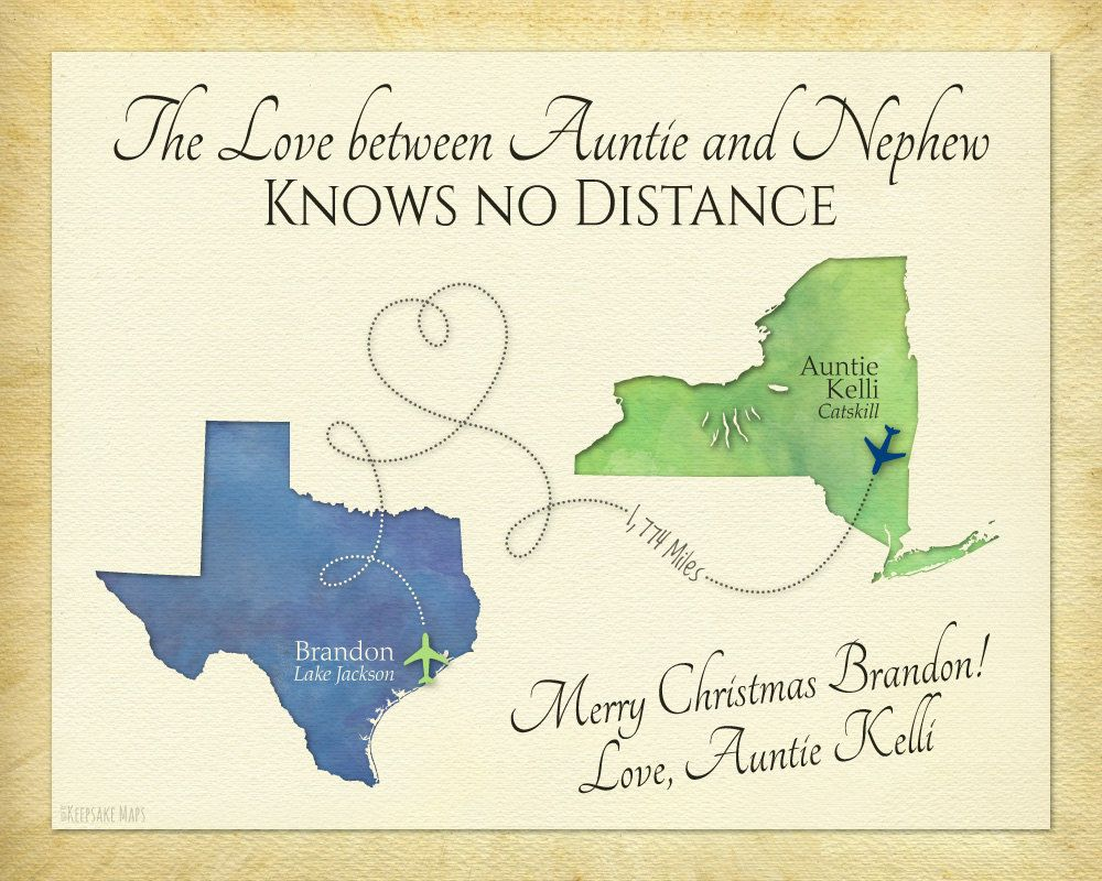 Quotes About Moving Away Christmas Gift For Aunt Christmas Gift For Nephew Long Distance